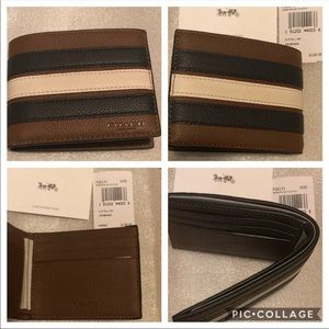 NEW COACH MEN'S SLIM BILLFOLD WALLET